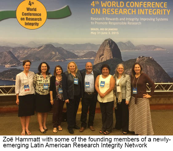 Zoë Hammatt with some of the founding members of a newly emerging Latin American Research Integrity Network.