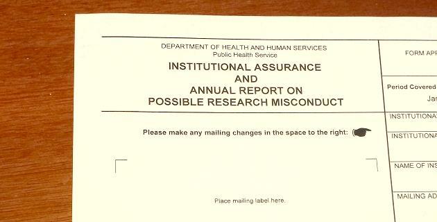 Assurance form