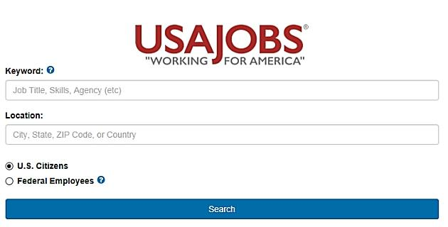 Screenshot of USAJobs.gov