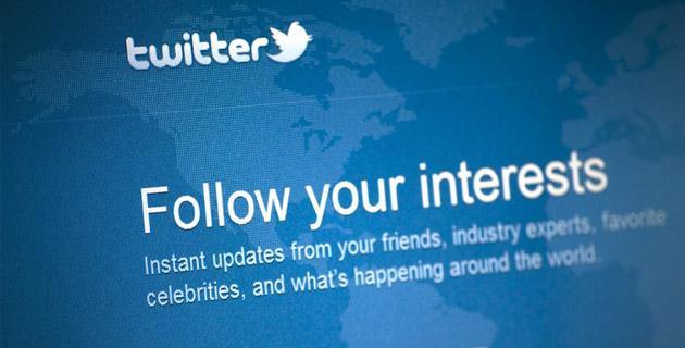 Twitter logo on computer screen